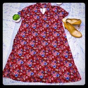 Women's plus size dress size 2X floral print NWT